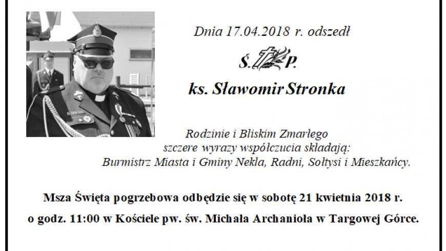 Odszedł ks. Sławomir Stronka