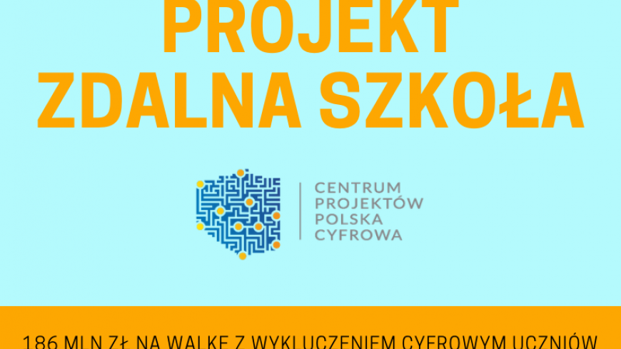 """Grafika """"Zdalna Szkoła"""""""