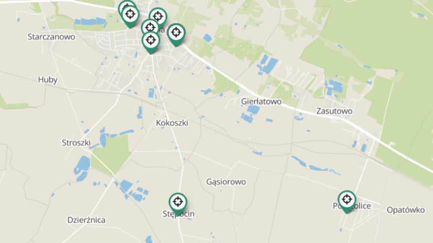 Punkty na mapie z WiFi4EU