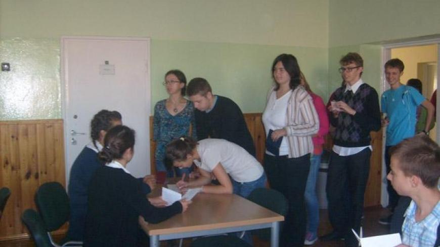 Młodzi głosują – wybory parlamentarne 2011 w Gimnazjum w Nekli